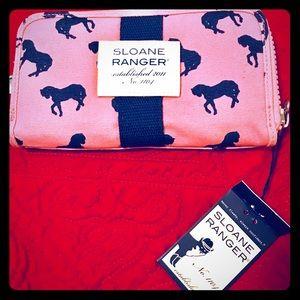 Sloane Ranger Zip Around Wallet Horeses